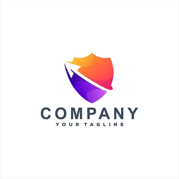 Logotipo gradiente de cor escudo
