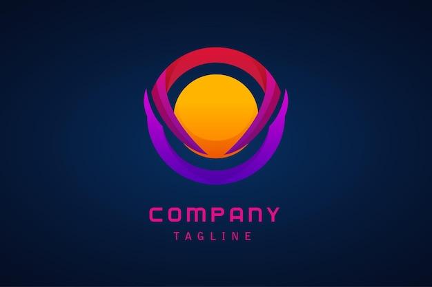 Logotipo gradiente de esfera circular colorida para empresa