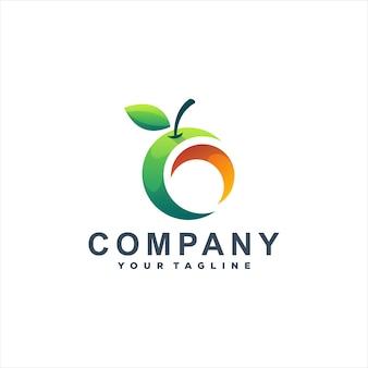 Logotipo gradiente de manga de fruta