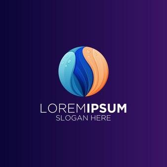 Logotipo gradiente de natureza abstrata
