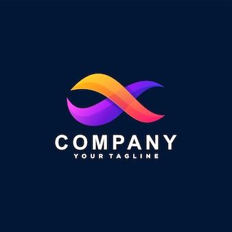 Logotipo gradiente de onda abstrata