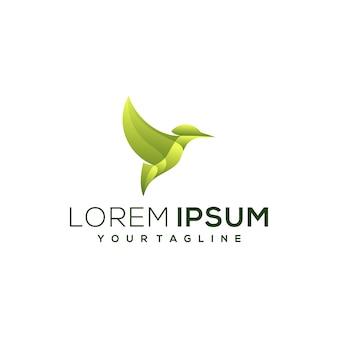 Logotipo gradiente de pássaro