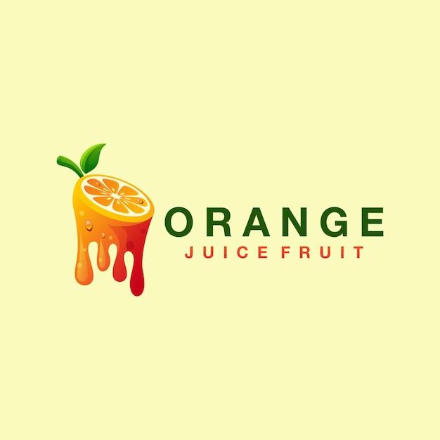 Logotipo gradiente de suco de laranja