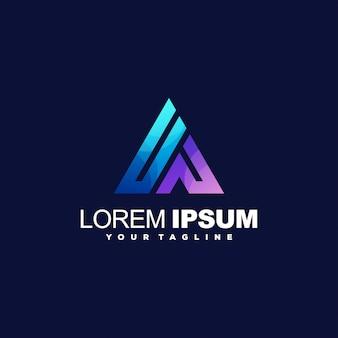 Logotipo gradiente impressionante triângulo