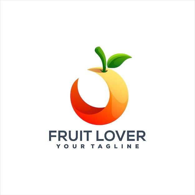 Logotipo gradiente laranja de frutas