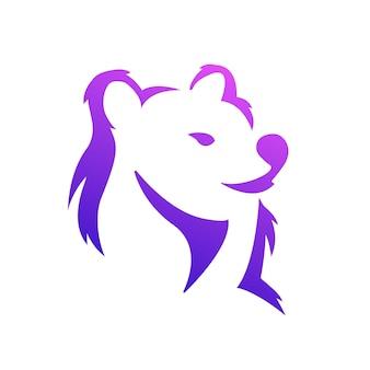 Logotipo gradiente lion