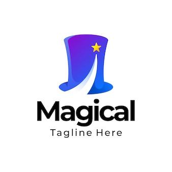 Logotipo gradiente mágico