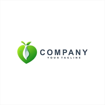 Logotipo gradiente verde maçã