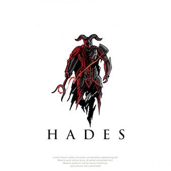 Logotipo grego do deus de hades