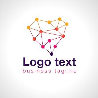 Logotipo heart dots para negócios