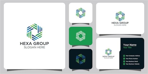 Logotipo hexagonal e cartão de visita
