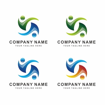 Logotipo humano abstrato