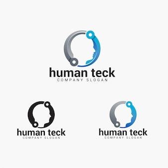 Logotipo humano do teck