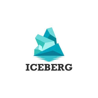 Logotipo iceberg pronto para uso