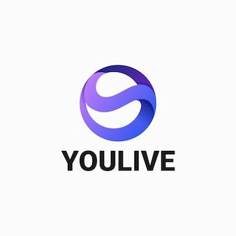 Logotipo ilustração círculo gradiente estilo colorido