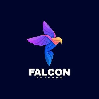 logotipo ilustração falcon gradient estilo colorido