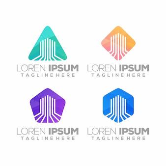 Logotipo imobiliário, abstrato