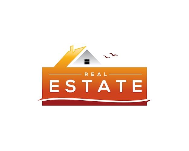 Logotipo imobiliário de verão