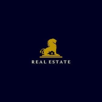 Logotipo imobiliário do leão