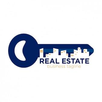 Logotipo imobiliário em forma de chave