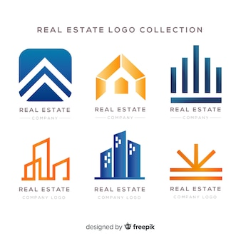 Logotipo imobiliário moderno collectio