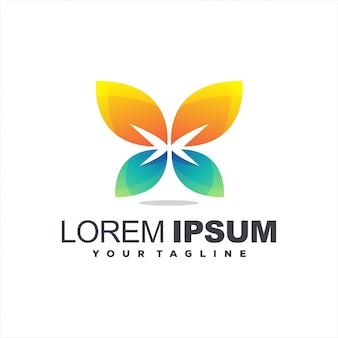 Logotipo impressionante borboleta gradiente