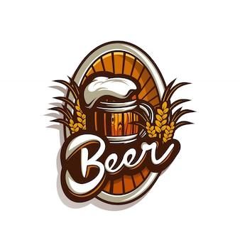 Logotipo impressionante da cerveja
