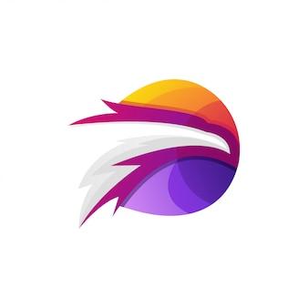 Logotipo impressionante da cor da águia