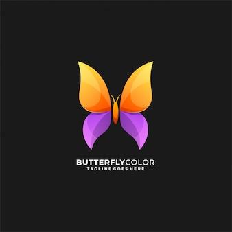 Logotipo impressionante da cor da borboleta.