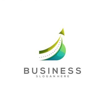 Logotipo impressionante da cor da seta