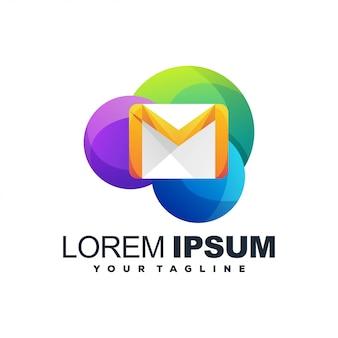 Logotipo impressionante da cor do email