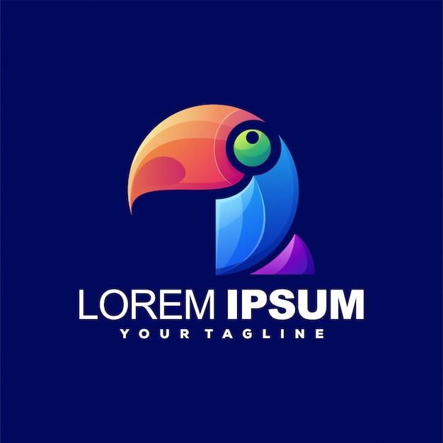 Logotipo impressionante da cor do pássaro
