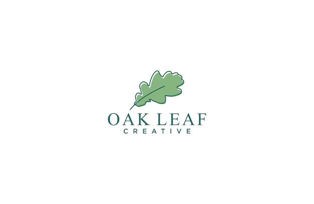 Logotipo impressionante da folha do carvalho