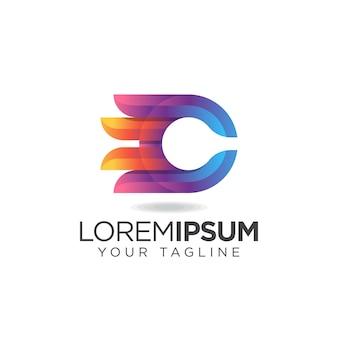 Logotipo impressionante da letra c
