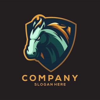 Logotipo impressionante do cavalo v