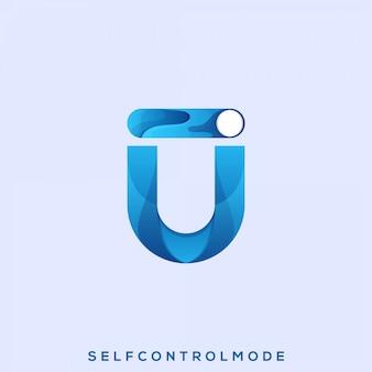 Logotipo impressionante do modo de autocontrole