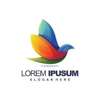 Logotipo impressionante do pássaro