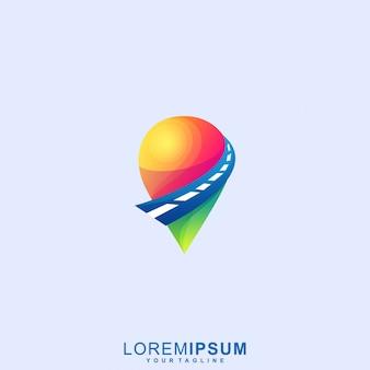 Logotipo impressionante do ponto da maneira