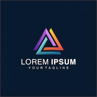 Logotipo impressionante do triângulo do inclinação