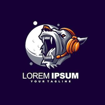 Logotipo impressionante do urso