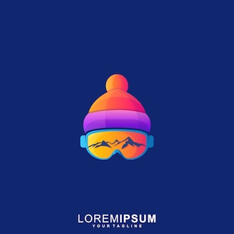 Logotipo impressionante dos óculos de proteção da neve