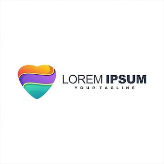 Logotipo impressionante forma de coração