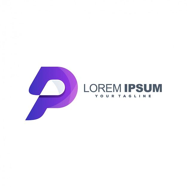 Logotipo impressionante letra p