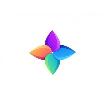 Logotipo impressionante pássaro colorido