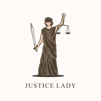 Logotipo impressionante senhora justiça