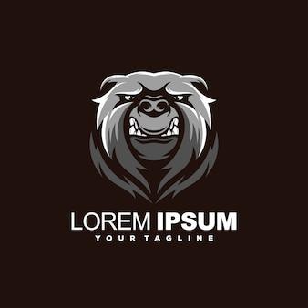Logotipo impressionante urso bravo