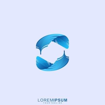 Logotipo incrível da feather premium