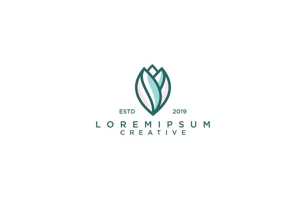 Logotipo incrível de lótus