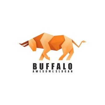 Logotipo incrível de origami de búfalo