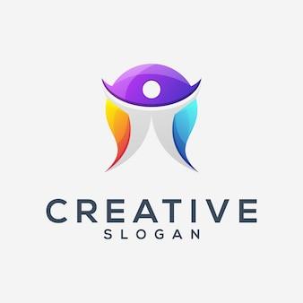 Logotipo incrível gradiente de vida